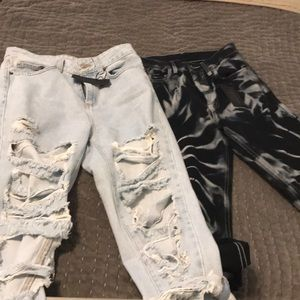 Two pairs of carmar jeans